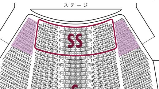 宝塚大劇場S席のタケノコ席
