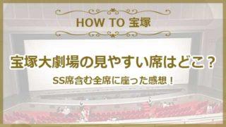 宝塚大劇場の見やすい席はどこ?