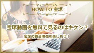 宝塚動画を無料で見るのは危険?