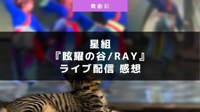 宝塚星組『眩耀の谷/Ray』ライブ配信の感想