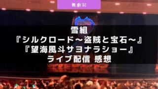 宝塚雪組『シルクロード~盗賊と宝石~望海風斗サヨナラショー』ライブ配信の感想!